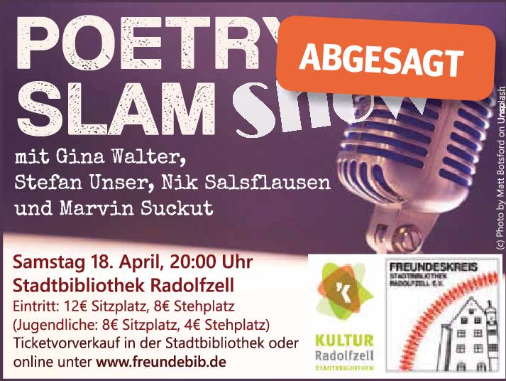 Poetry Slam 2020 abgesagt